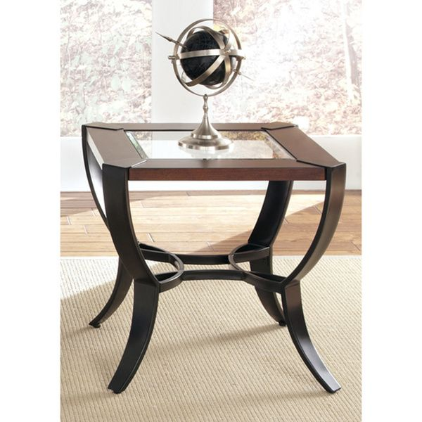 Liberty Contemporary Metal And Cherry End Table