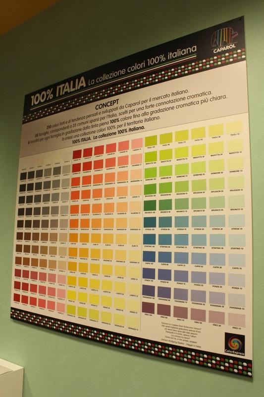 La palette colori proposta da Caparol.