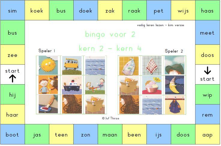 jufthirza.nl Bingo voor 2 veilig leren lezen kim-versie kern 2 tot kern 4