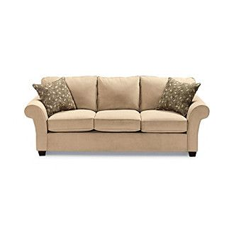 Bauhaus Mineral Tan Microfiber Sofa at