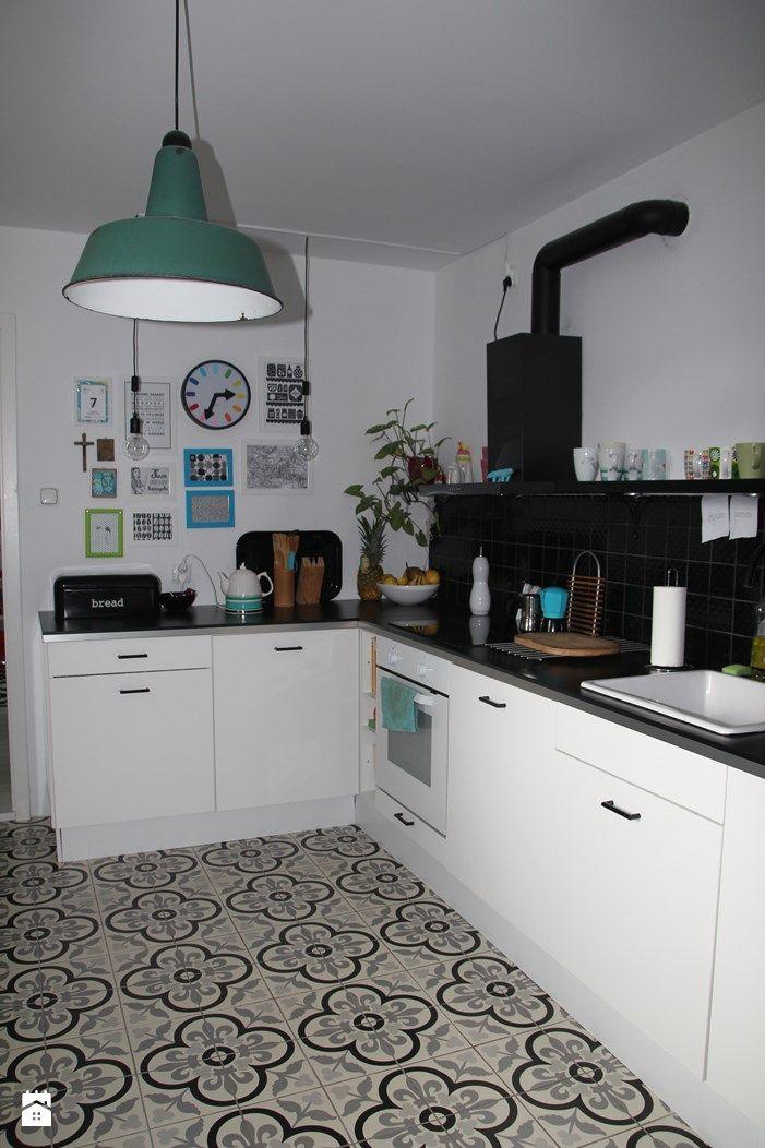 Kuchnia styl Skandynawski - zdjęcie od Agnieszka Kijowska - Kuchnia - Styl Skandynawski - Agnieszka Kijowska, black & white, scandinavian design, kitchen, diy