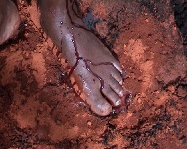 My Blood Self: Blood Painting (2006/2007) - Grace Ndiritu