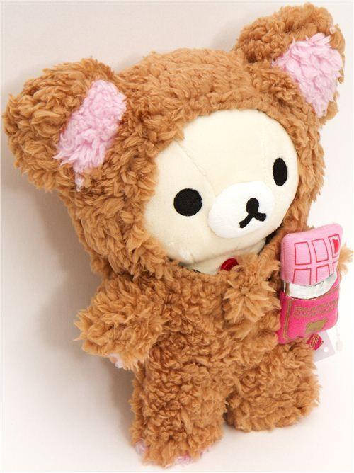 Rilakkuma plush toy white bear chocolate suit