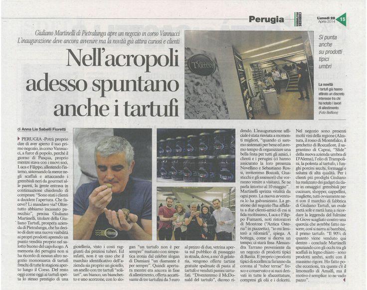 Articolo Corriere dell'Umbria del 26/04/2014