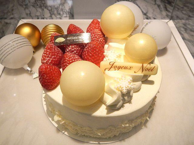 マンダリン東京、ツリー&雪景色のケーキなど新作クリスマスケーキの予約をスタート