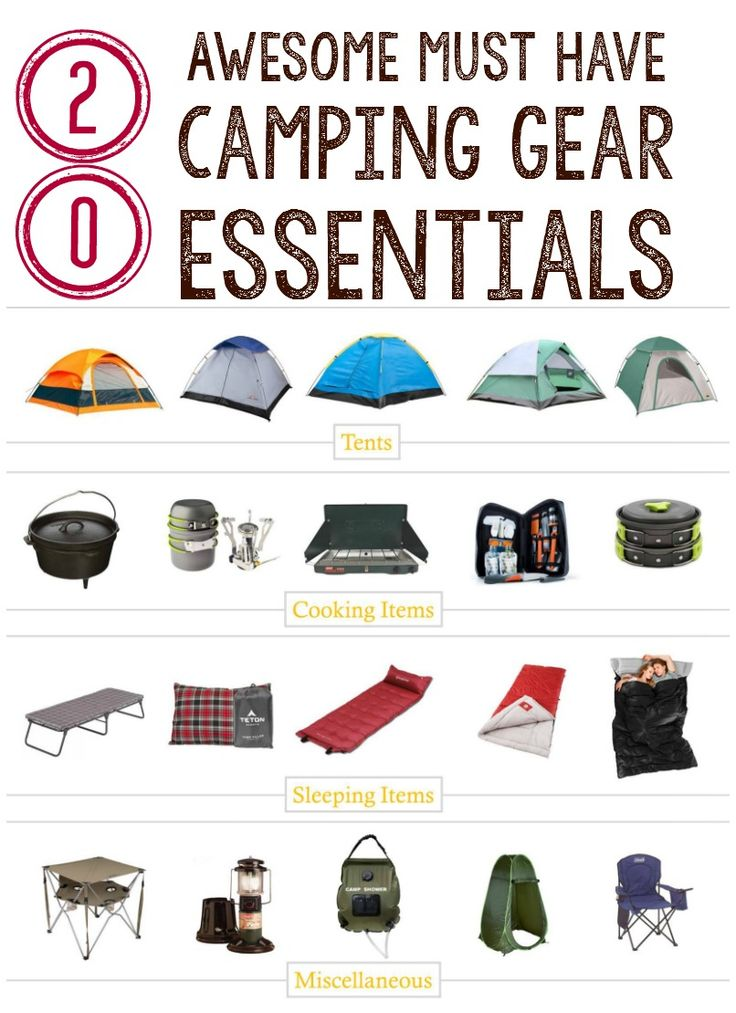 Camping can be great fun. Check out our 20 must have camping gear essentials to get started. Most are under $50! via @gretasday
