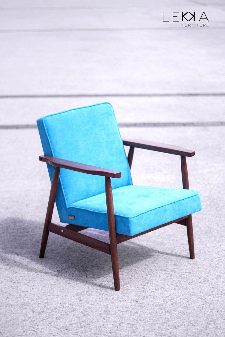 The armchair type B-7727 designed by Hanna Lis. Redesigned by Lekka furniture Fotel utorstwa Hanny Lis. Przedstawiciel polskiego designu lat 60/70