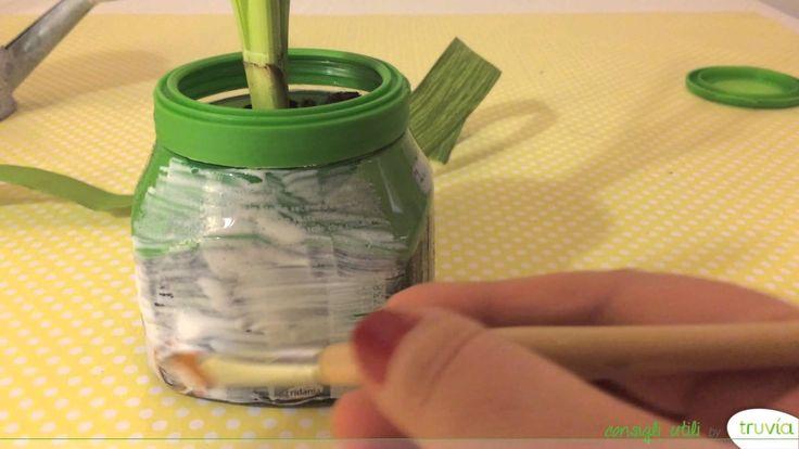 Come realizzare un vasetto porta bulbi con Truvìa #diy #Pasqua #bricolage #riciclo #riutilizzo #pack #natale #regali #piante #vaso #homemade