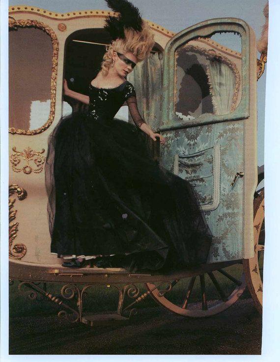 Beförderung-Kleid-Replik von Marie Antoinette Movie...Black sparkle Tüll Kleid Boxing