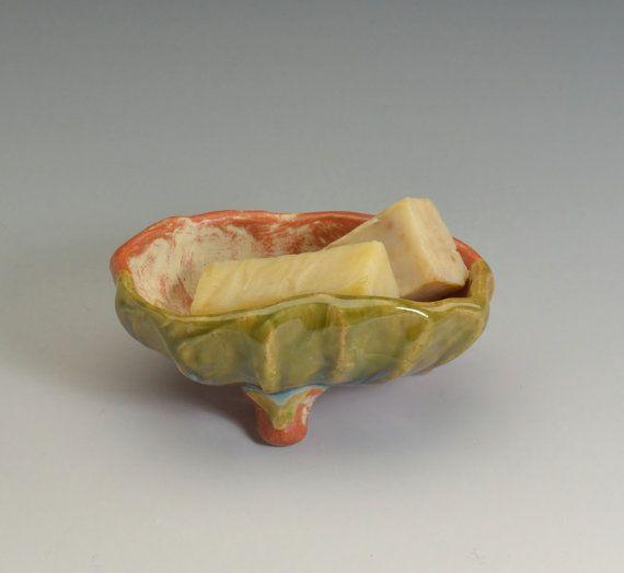 Soap Dish Bathroom Accessories Handmade Ceramic #5