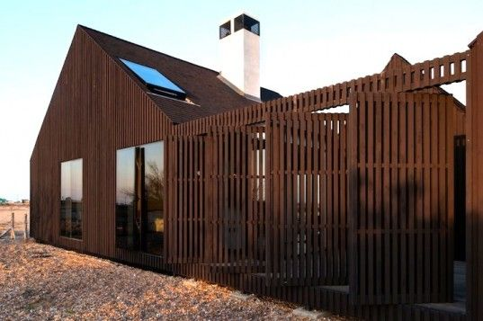 Striking A-Framed Shingle House Sits on a Fragile Site in Southeast England | Inhabitat - Sustainable Design Innovation, Eco Architecture, Green Building
