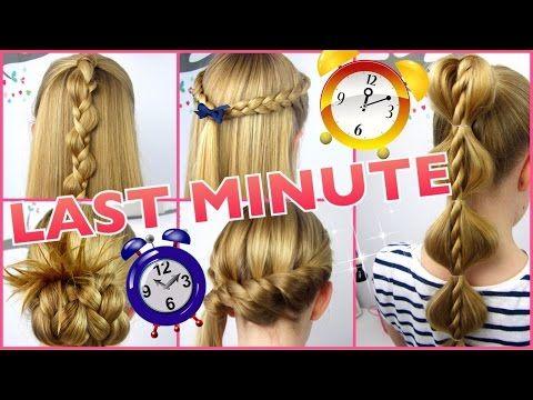 5 x 3 Minuten Frisuren ♥ Last Minute ♥ coole Frisuren auf die Schnelle – You…