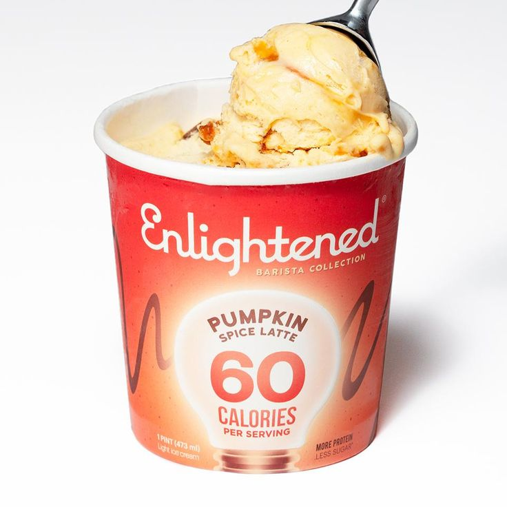 Pumpkin Spice Ice Cream With Ribbons Of Espresso. Now At