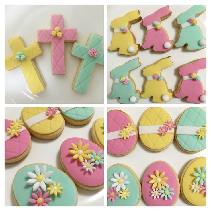 Our Easter collection of almond shortbread in beautiful pastels  #edwardjamesfinefoods