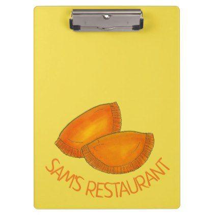 Jamaican Beef Patty Caribbean Restaurant Food Clipboard  $36.40  by rebeccaheartsny  - custom gift idea