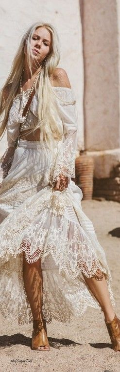 ╰☆╮Boho chic bohemian boho style hippy hippie chic bohème vibe gypsy fashion indie folk the 70s . ╰☆╮ lace.