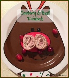 Christmas - Cranberry and Basil Pinwheels.