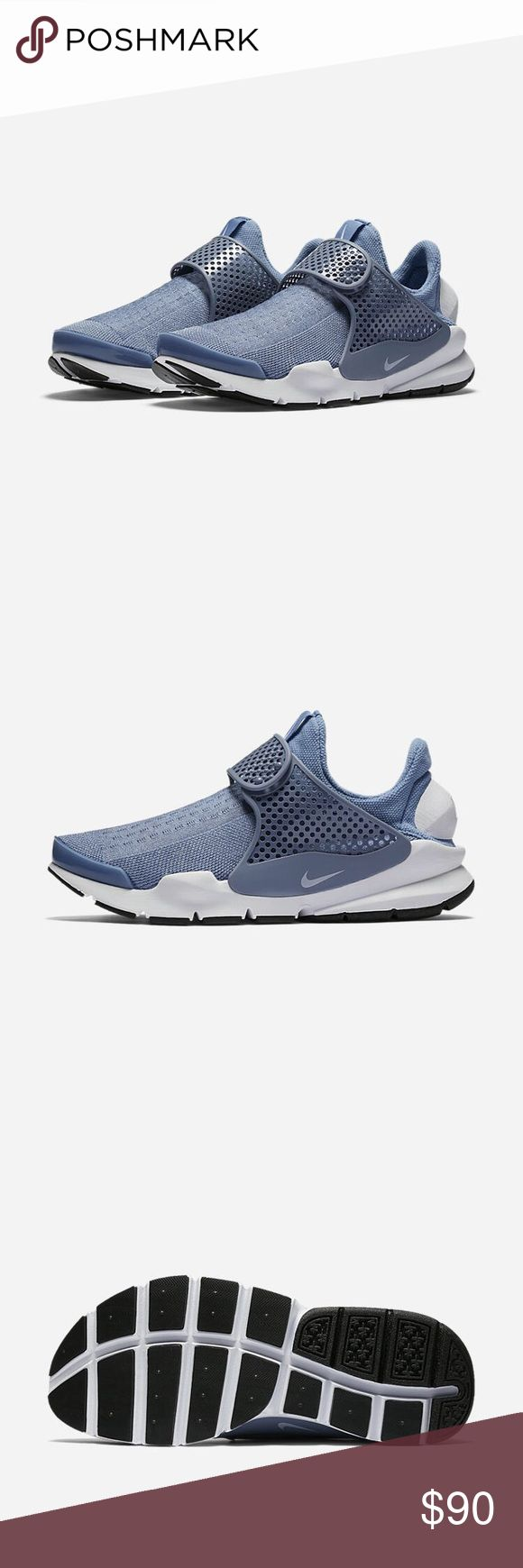 Nike Sock Dart SLIP ON. STRAP IN. The Nike Sock Dart Women's Shoe knocks your socks off with a soft upper that surrounds your foot in comfort and just enough structure to add stability.  SECURE, SOCK-LIKE FIT Flexible, breathable mesh helps keep your feet cool and comfortable, while the molded midfoot strap with adjustable closure provides a personalized fit.  SOFT CUSHIONING Full-length Phylon foam underneath your foot offers lasting, cushioned comfort. Nike Shoes Athletic Shoes