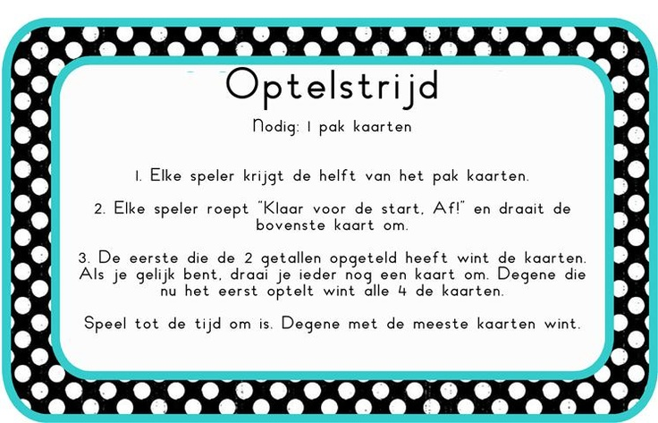 rekenspelletje# optellen # kaartspel