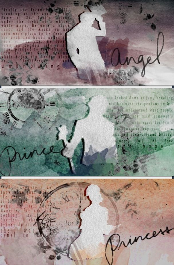 The Angel, the Prince, and the Princess. Will Herondale, Tessa Gray, and Jem Carstairs