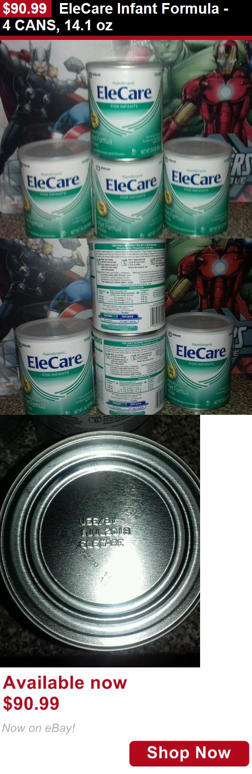 Baby Formula: Elecare Infant Formula - 4 Cans, 14.1 Oz BUY IT NOW ONLY: $90.99
