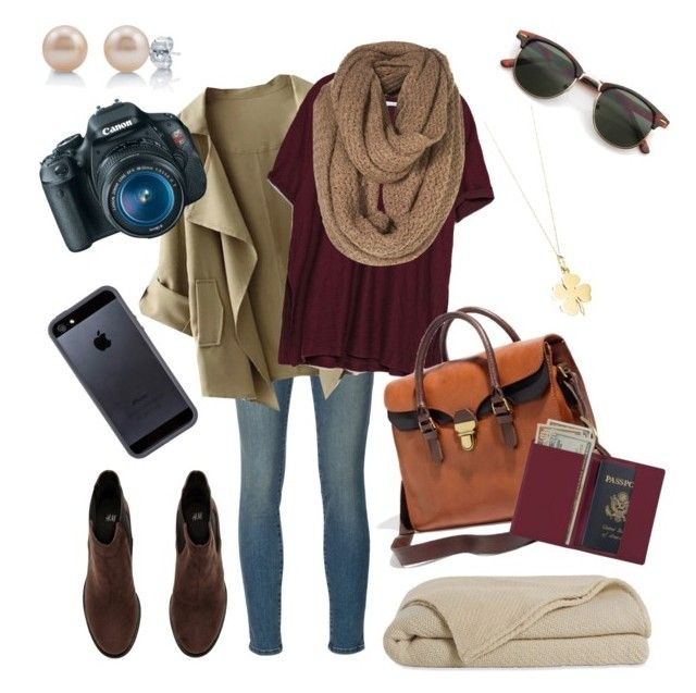 """Arriving in Ireland"" by hannahschagene ❤ liked on Polyvore featuring Frame Denim, Zara, Tiffany & Co., H&M, BERRICLE, Madewell, Royce Leather, Canon, Tavik Swimwear and travel"