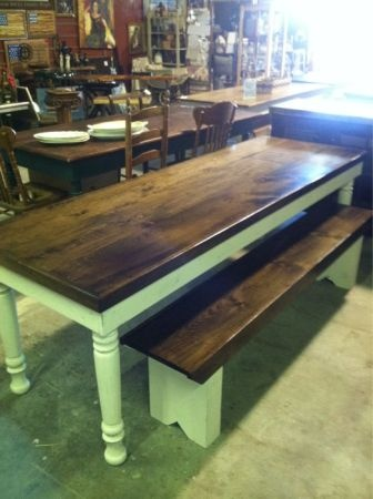 Farm tables black legs and it would be perfect!