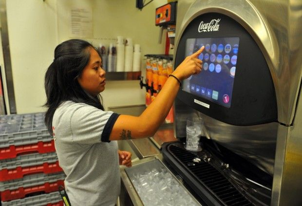 coke machine touch screen price