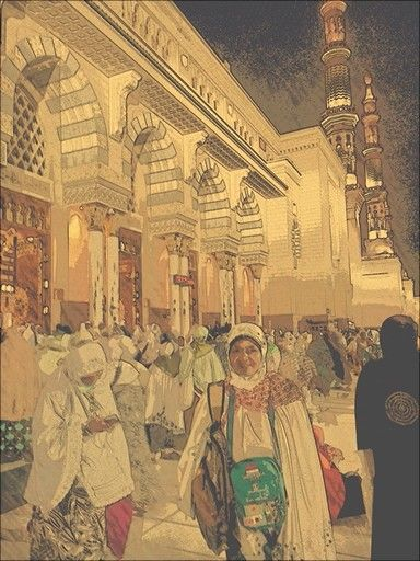 The first day at Nabawi Mosque,  Madeena #hajj1435h
