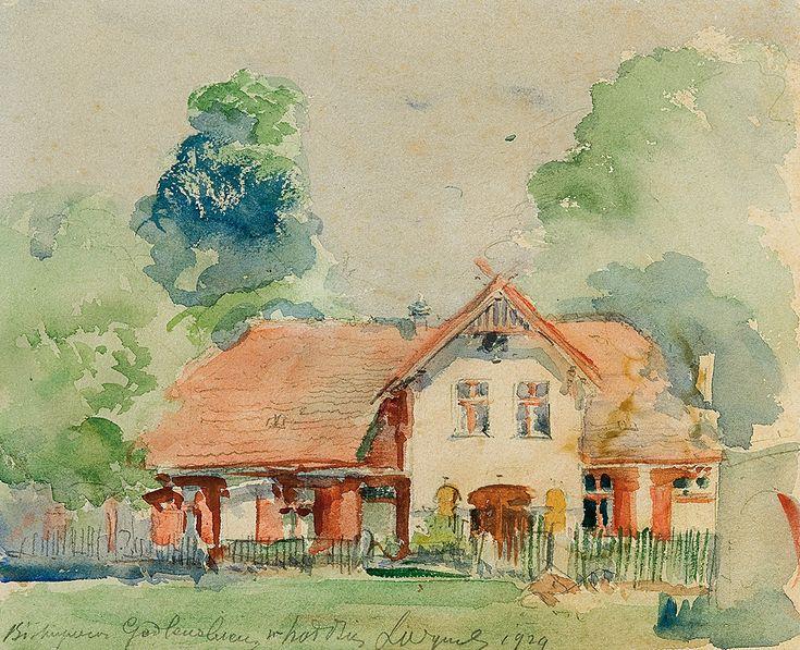 Leon Wyczółkowski   Goscieradz Residence, 1929   watercolour