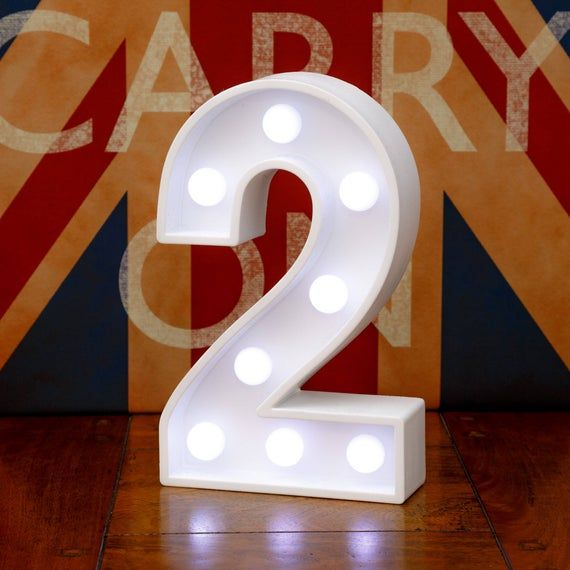 Light Up Number 21 Twenty One 21st Birthday 23cm 9 Etsy Light Up Marquee Letters Light Up Wooden