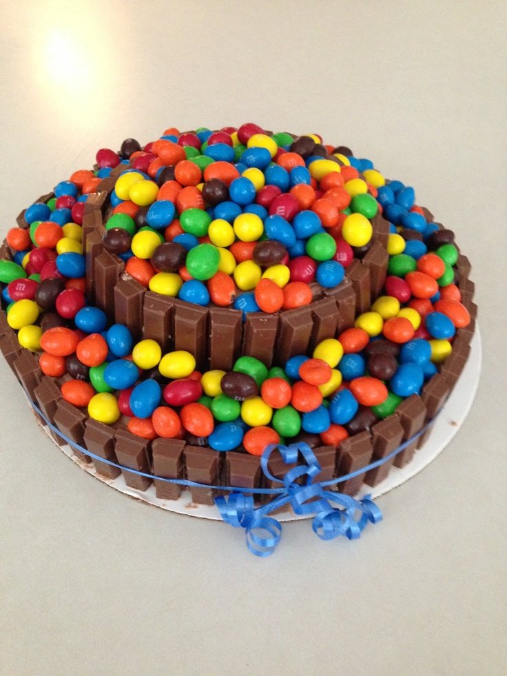 Crazy mnm cake for Sarah's bday! This was definitely a fun one to make