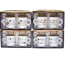 2pcs 200ml Cute Ceramic Moomin mugs set coffee cup with spoon Cartoon coffee mug Moomin 4 designs random(China (Mainland))