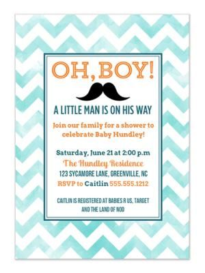 8 Free Online Baby Shower Invitations Your Guests Will Love: Oh, Boy! from Charming Ink