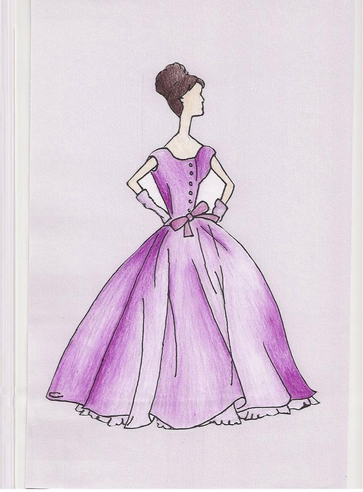 lauren newton tosb.blogspot.co.uk  Vintage Ball Gown Design