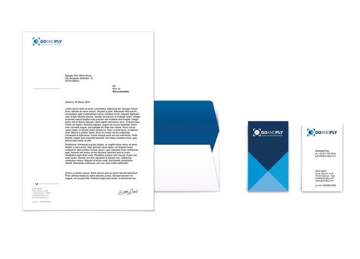 GO and PLY SUpply shain solutions logistic  shipping service brand identity letterhead envelope visit card
