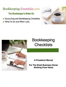 Bookkeeping checklists for daily, weekly, monthly, quarterly, annual and year-end tasks.