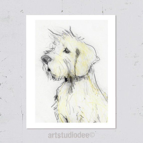Cairn Terrier Dog Print 8x10 Or A4 Cairn Terrier Gifts Modern