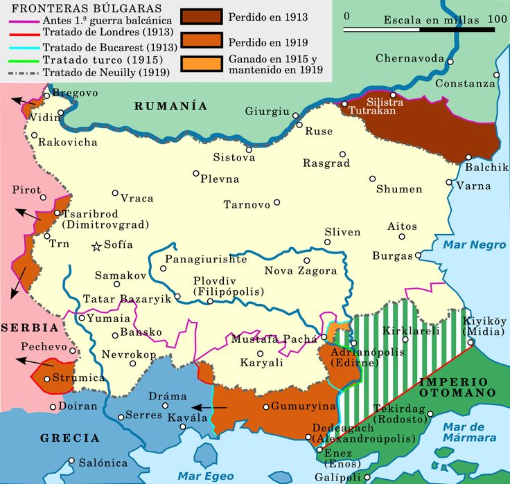 Bulgaria's territorial changes in the early 20th century