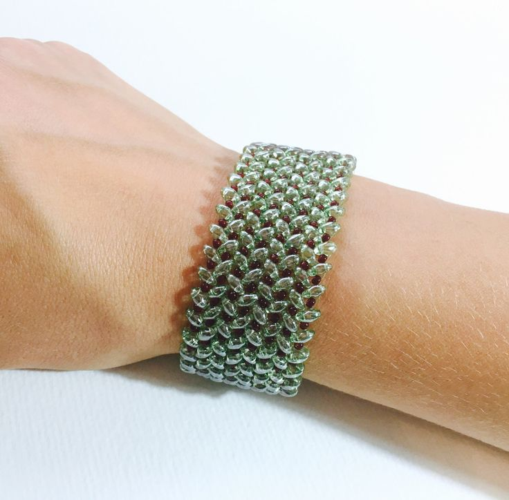 A personal favourite from my Etsy shop https://www.etsy.com/listing/453688440/superduo-beads-bracelet