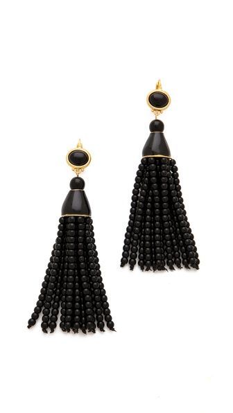 Kenneth Jay Lane Beaded Tassel Earrings $132.00