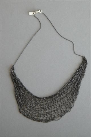 The crocheted chain kills me! Necklace by Jensen-Conroy