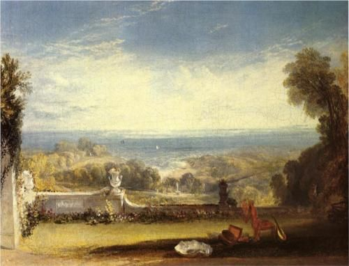 View from the Terrace of a Villa at Niton, Isle of Wight - William Turner