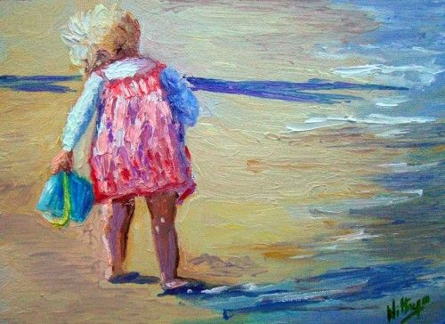 What's that! - Original Oil painting of children in summer