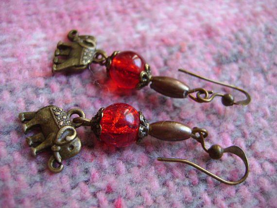 Earrings India vintage earrings handmade earrings bronze