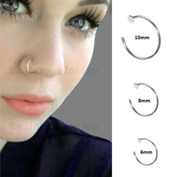 Sterling Silver 925 Thin Small Silver Open Nose Ring Hoop 0 6mm Piercing Ebay Nose Rings Hoop Nose Piercing Jewelry Nose Ring