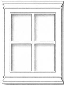 window frame coloring pages - photo#44