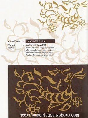 MOTIF MOTIF NAGA-NAGAAN  (Melayu Riau)