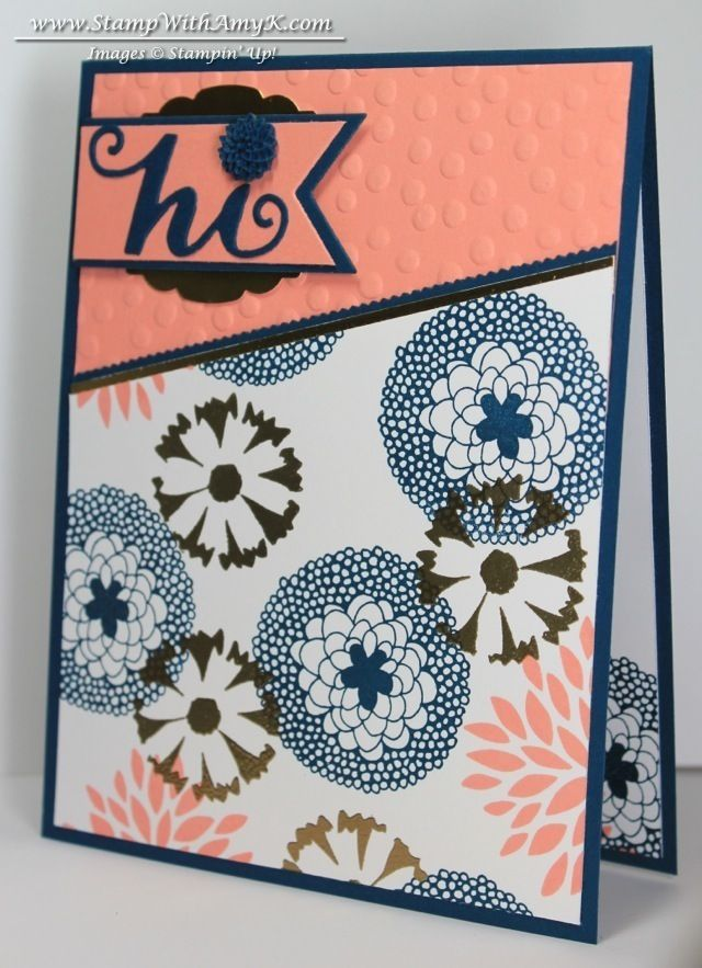 Petal Parade with a few Gold Touches & New Online Hostess Clubs - Stampin' Up!