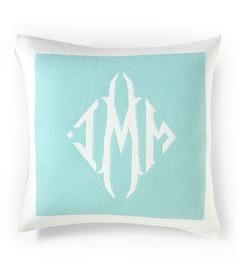 Queen of Cashmere's monogrammed pillowPillows Passion, Cashmere Pillows, Cashmere Personalized, Cashmere Pillowcamel, Personalized Cashmere, Monograms Pillows, Pillows Talk, Cashmere Pillowblack, Throw Pillows